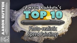 Top 10 Photo-realistic Speed Paintings by Aaron Rutten