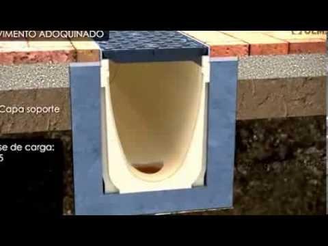 Como instalar canales de drenaje prefabricados de hormig n - Tubos desague pvc ...