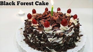 Black Forest Cake in Tamil  Without Oven &amp Egg  Easy Birthday Cake at Home