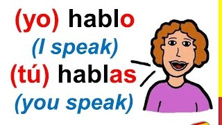 spanish lesson 55 how to conjugate regular ar verbs in spanish present tense conjugation rules