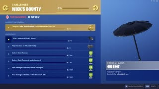 Wick's Bounty CHALLENGES & FREE REWARDS in Fortnite