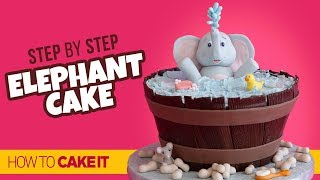 How To Make An ADORABLE Elephant Cake by Cassie Garner | How To Cake It Step By Step
