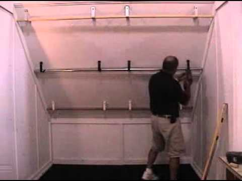 Angled Ceiling Closet Rod Hanger Brackets Youtube