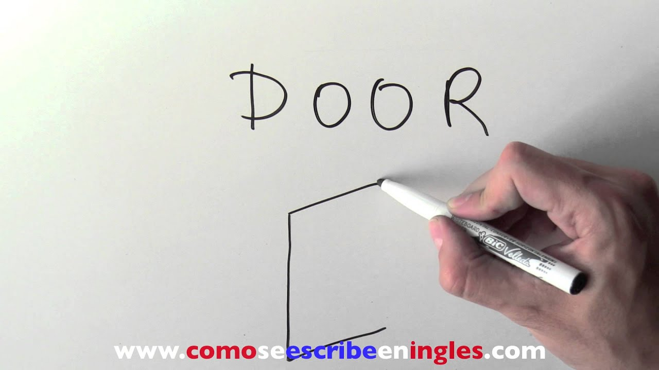 C mo se escribe en ingl s puerta youtube for Puerta en ingles