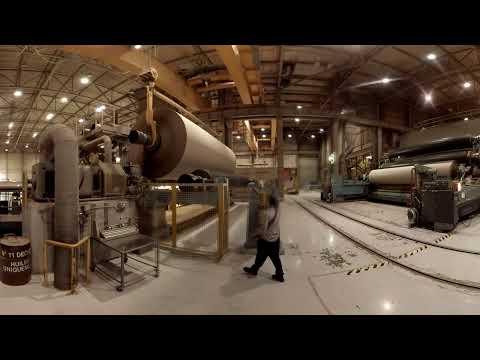 Visite 3D d'une entreprise de fabrication de papier pour emballage
