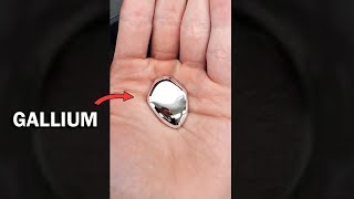 Touching liquid gallium metal