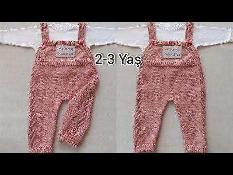 Duygu Çocuk Pantolon Yapımı. 2. 3 Yaş. Ajurlu Bebek Askılı Bahçivan Bebek Pantolon Tarifi