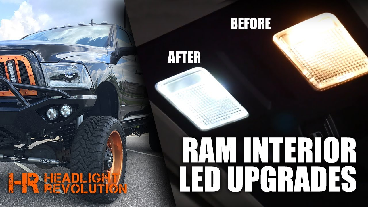 hight resolution of dodge ram led interior light kit install headlight revolution