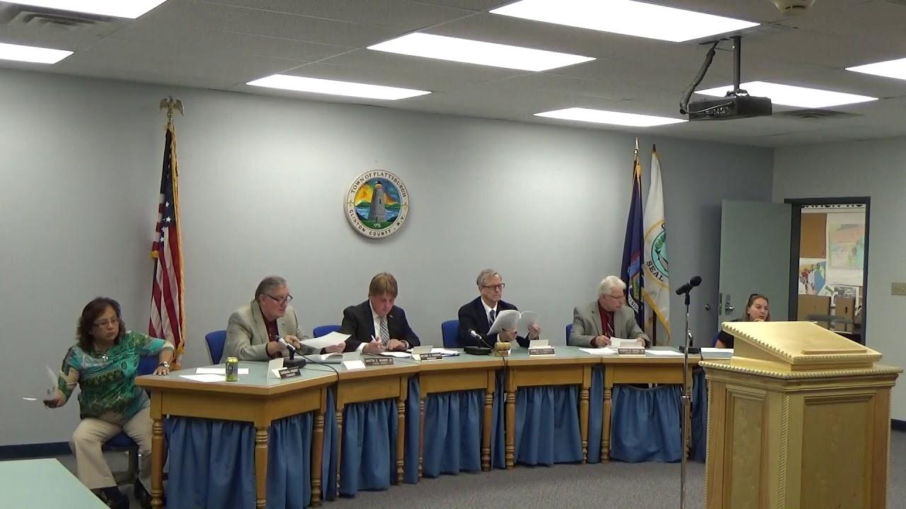 Town of Plattsburgh Meeting  10-5-17
