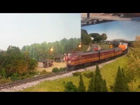 Prairie Scale Model Railroad/ Boston and Maine  4258 TOFC Train