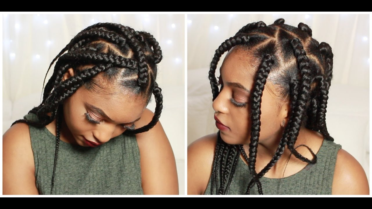 Medium Triangle Box Braids