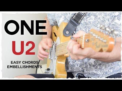 """One"" By U2 - Guitar Tutorial | Electric Guitar Intro + Easy Chords"