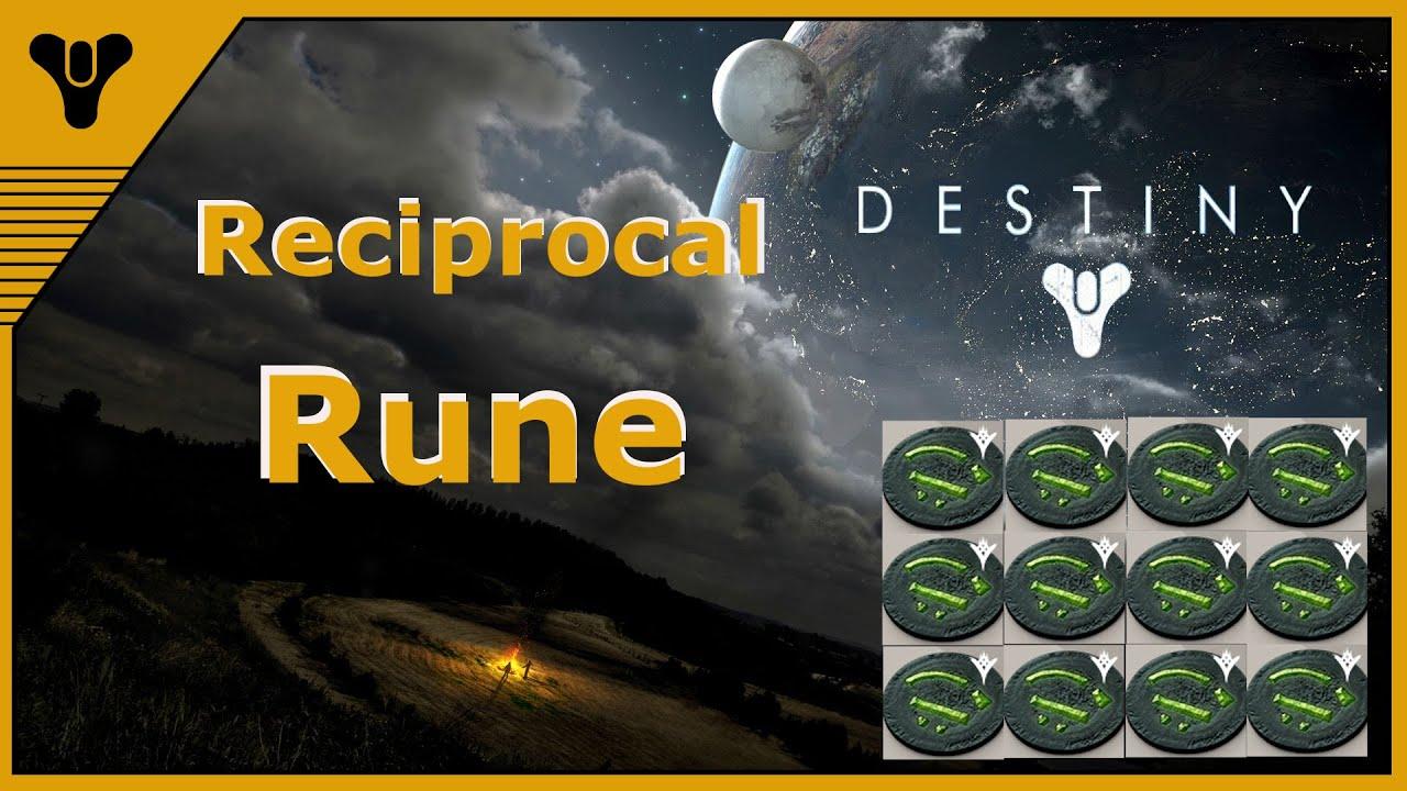 destiny reciprocal rune