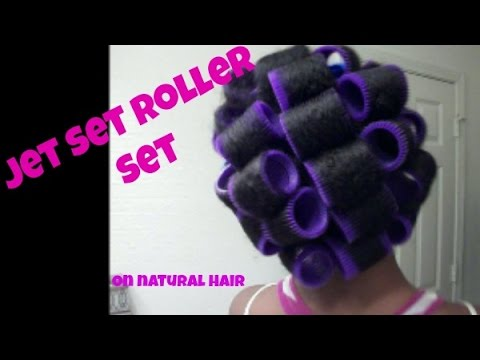 jet set roller set on natural hair youtube. Black Bedroom Furniture Sets. Home Design Ideas