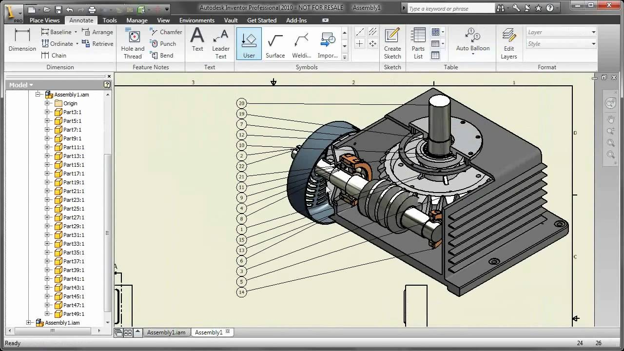 Autodesk Inventor DWG - Isometric Views of Sections - YouTube