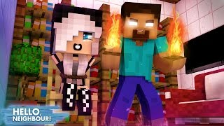 Minecraft HELLO NEIGHBOR - O HEROBRINE CAPTUROU A MIA   EP 27