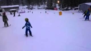 Горные лыжи, обучение детей. Саша 4 года.Ski Factor.
