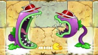 Plants Vs Zombies 2: New Plants Chomper Bowling Bulb Arthur's Challenge Level 20
