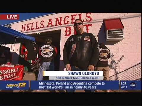 Hell's Angels Motorcycle Club Holds Thanksgiving Food Drive for Black Rock  Food Pantry