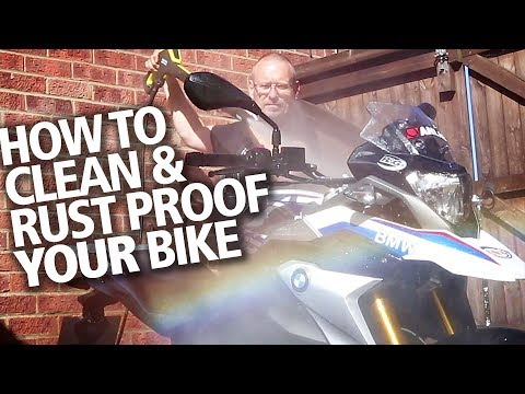 DO IT RIGHT: How to properly clean your motorcycle & prevent rust + how to apply ACF50 / XCP