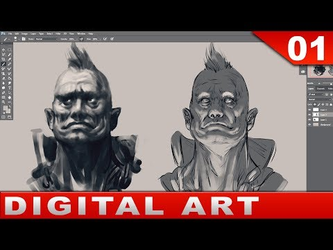 01 - Digital Art Painting [Tutorial] Basics and Talk