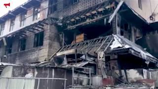 Супермаркет на Гайдамаке сгорел за считанные минуты