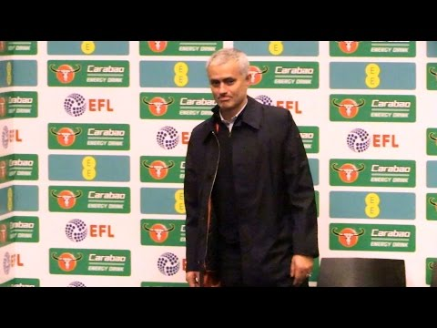 Manchester United 3-2 Southampton - Jose Mourinho Full Post Match Press Conference - EFL Cup Final