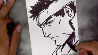 Long Vo Drawing Ryu [with Sharpie]