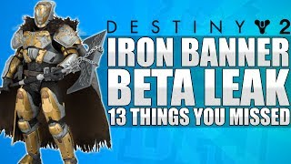 Destiny 2: Iron Banner Returns, Beta, Custom Ships, Group Blink, Factions, Races - Things You Missed