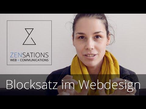 #zentalks - Blocksatz im Webdesign