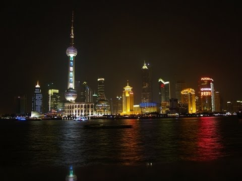 Shanghai Waterfront Nightview, The Bund - CHINA.!
