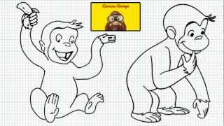 Curious George - How to Draw Curious George - The Tailless monkey - Video - Easy Drawing For kids