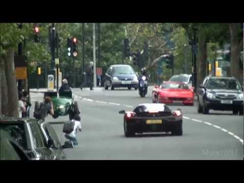 LOUD Child Scaring Ferrari Enzo with Capristo Exhausts 0-60MPH acceleration in London!