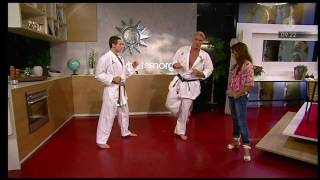 Dolph Lundgren show some karate moves