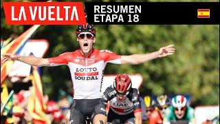 Resumen - Etapa 18 - La Vuelta 2018