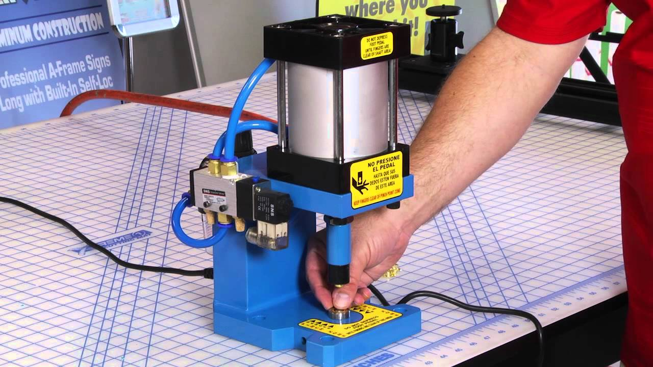 grommet and snap press machine