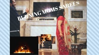 BURNING MOMS EXPENSIVE DRESSES (SAREES) PRANK!!!!!