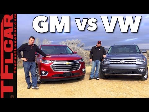 Newest XXL Crossovers Compared: 2018 Chevy Traverse vs VW Atlas Review