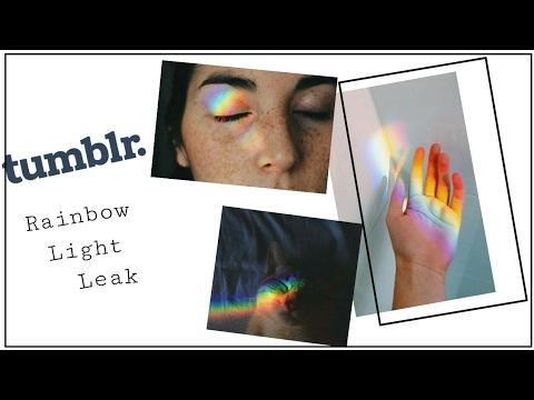 TUMBLR EDIT: RAINBOW LIGHT LEAK (TUTORIAL)