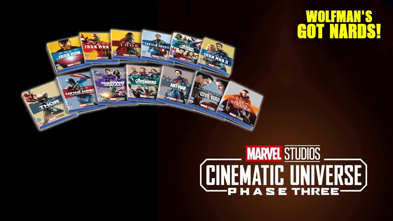 Marvel Cinematic Universe Complete Phase Three Blu-ray Collectible  Anniversary Slipcover Collection