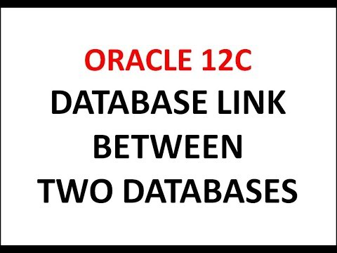 How to Create a Dblink Between Two Oracle Database oracle12c