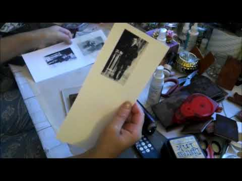How I stamp my vintage photo images rubber stamps