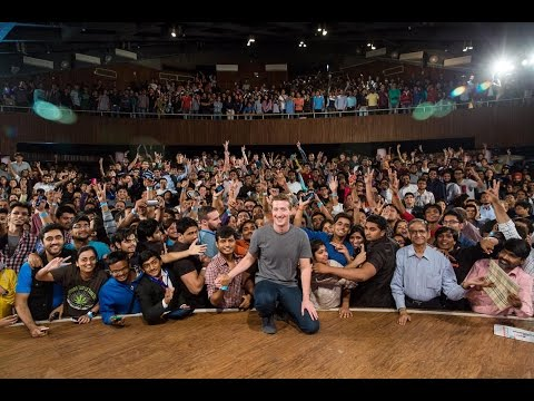 Mark Zuckerberg Townhall Q&A At IIT Delhi Highlights | 28.10.2015