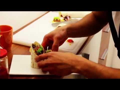 Mexican Tortilla Wraps with Salsa Sauce