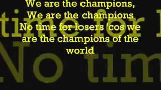 Queen-We Are The Champions (with lyrics)