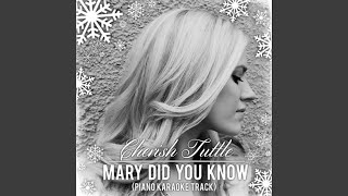 Mary Did You Know Piano Karaoke Track Live