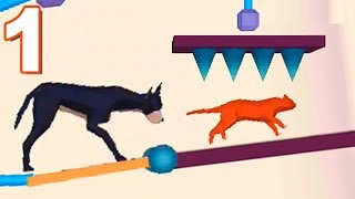 Rescue Cut Rope Puzzle RESCUE CAT MODE Gameplay Walkthrough 1-40 Levels (Android) screenshot 4