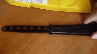 Розпакування посилки з aliexpress ''Тренувальний ніж-метелик'' #14