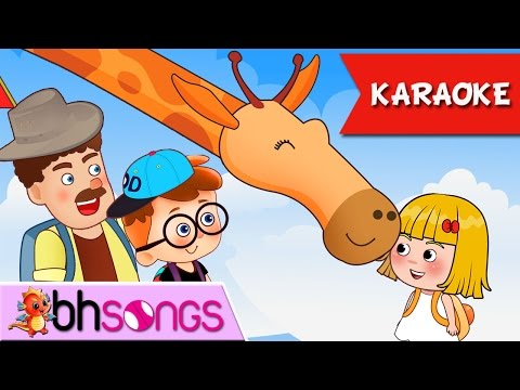 We're Going To The Zoo Karaoke 4K   Animal Songs Nursery Rhymes TV