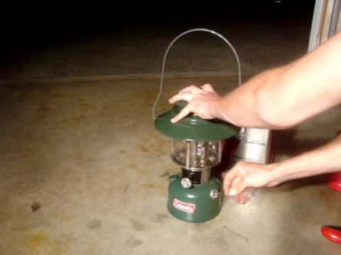 How I Light A Coleman Lantern